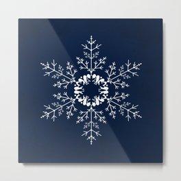 Christmas . Snowflake Metal Print