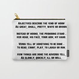Parts of Speech Rhyme Carry-All Pouch