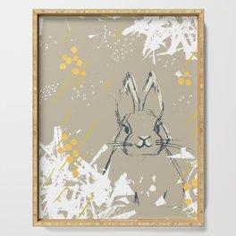 Bunny Portrait M+M Latte by Friztin Serving Tray