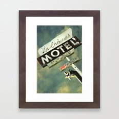 La Crescenta Vintage Motel Sign Framed Art Print