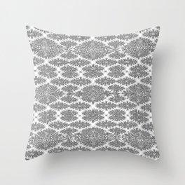 Neutral Damask Throw Pillow
