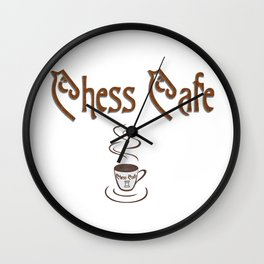 Chess Cafe Wall Clock