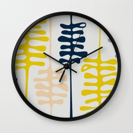 Abstract jungle - grey Wall Clock