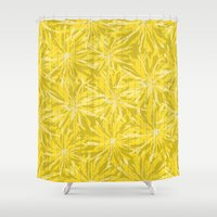 sunflowers Shower Curtains featuring Sunflowers by Simi Design