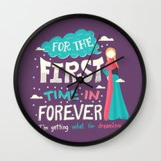 First Time in Forever Wall Clock