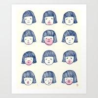 bubble Art Prints featuring Bubble bubble bubble gum by Young Ju