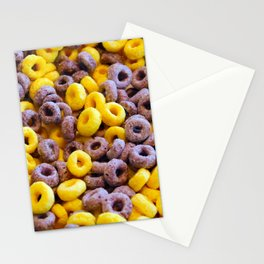 Breakfast Loops - Purple & Yellow Stationery Cards