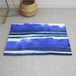Wave Stripes Abstract Seascape Rug