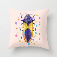 insect Throw Pillows featuring INSECT IX by dogooder