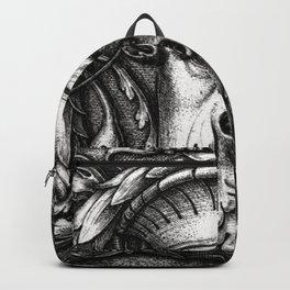 Green Man Renaissance Engraving I Backpack