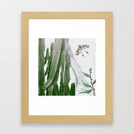 Cactus Dragonflies Tropical Art Print Framed Art Print