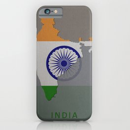 India, Outline, Map iPhone Case