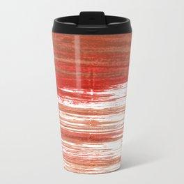 Medium carmine abstract watercolor Travel Mug
