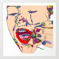 miley cyrus Art Prints featuring Miley cyrus by Jordan Spring