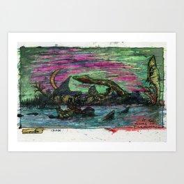 At The Shore of Dagon Art Print