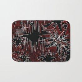 Red Chaos Bath Mat