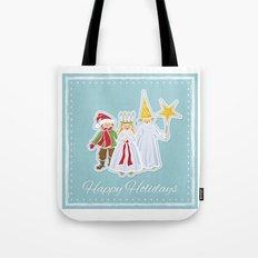 Happy Holidays says Saint Lucia Tote Bag