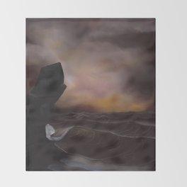 A Stormy Ocean Throw Blanket