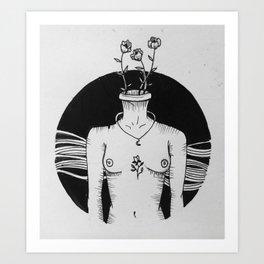 Get naked Art Print
