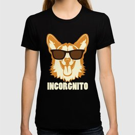 Incorgnito product Funny Vintage Corgi Lover Dog Pun Gift T-shirt