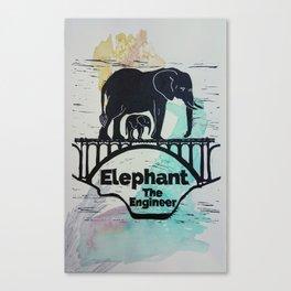 Elephant the Engineer Canvas Print