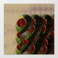 watermelon Canvas Prints featuring Watermelon by Take F1ve