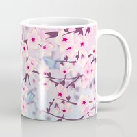 cherry blossoms Mugs featuring Cherry Blossoms by Nina Baydur