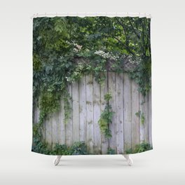 The Green Can Never Be Blocked Shower Curtain