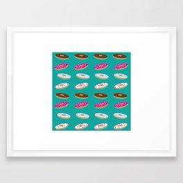 Donut Care Framed Art Print