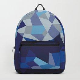 Blue Diamond Illustration Backpack