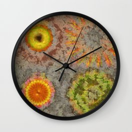 Waganging Architecture Flower  ID:16165-060313-27510 Wall Clock