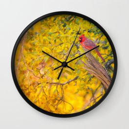Fall Tapestry Wall Clock