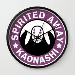 Spirited away,kaonashi parody logo Wall Clock