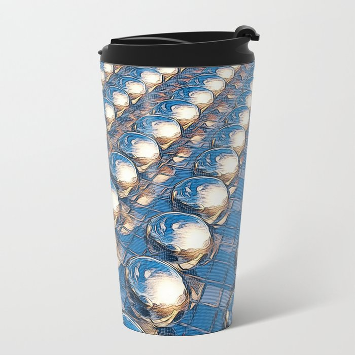 Abstract Spheres In A Row Metal Travel Mug