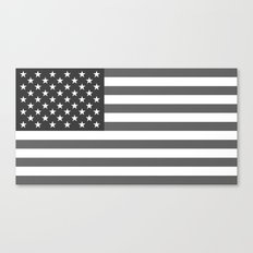American flag in Gray scale Canvas Print