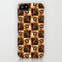 Cat and eyes - iPhone Case