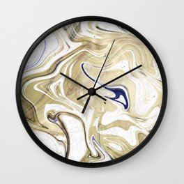 UltraViolet Gold Marble Wall Clock