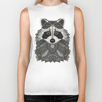 ornate Biker Tanks featuring Ornate Raccoon by ArtLovePassion