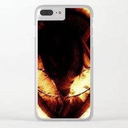 Alien Symbol Clear iPhone Case
