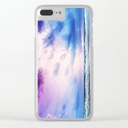 Cloudy shores Clear iPhone Case