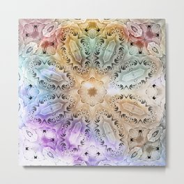 Vintage colored kaleidoscope Metal Print