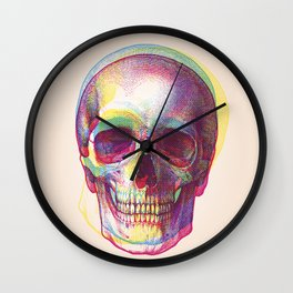 acid calavera Wall Clock