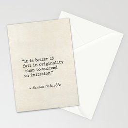 Herman Melville quote 1 Stationery Cards