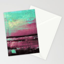 Green Color Patches Stationery Cards