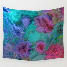 Flowers abstract #2 Wall Tapestry