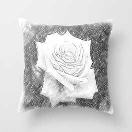Pink Roses in Anzures 4 Charcoal Throw Pillow