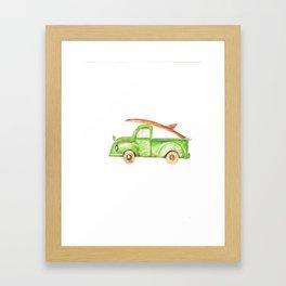 Green Truck Framed Art Print