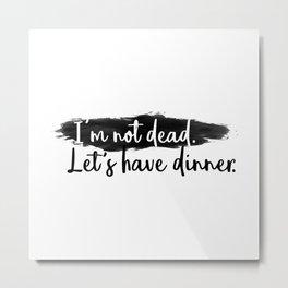 Dinner Invitation Metal Print
