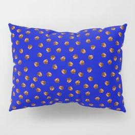 Acorn Pattern-Deep Blue Pillow Sham