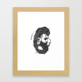 Weird Beard Framed Art Print